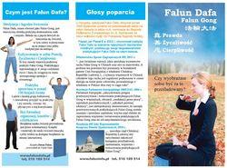 Ulotka o Falun Dafa