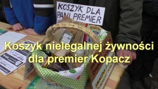 Koszyk nielegalnej żywności dla premier Kopacz