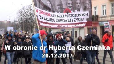 Hubert Czerniak manifestacja