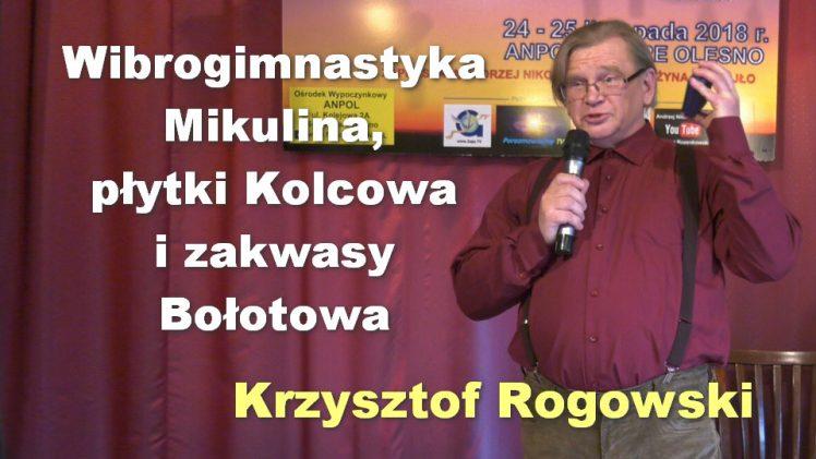Wibrogimnastyka Mikulina, płytki Kolcowa i zakwasy Bołotowa – Krzysztof Rogowski