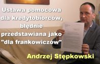 Andrzej Stepkowski ustawa