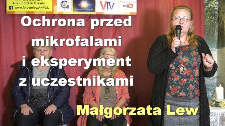 Ochrona przed mikrofalami i eksperyment z uczestnikami – Małgorzata Lew