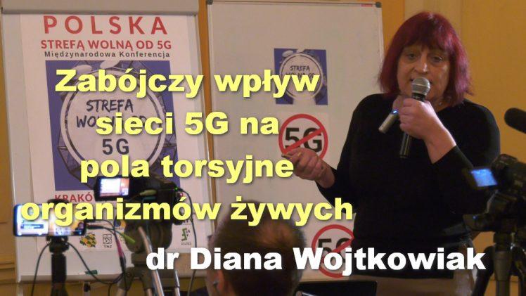 Zabójczy wpływ sieci 5G na pola torsyjne organizmów żywych – dr Diana Wojtkowiak
