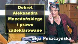 Olga Puszczynska dekret