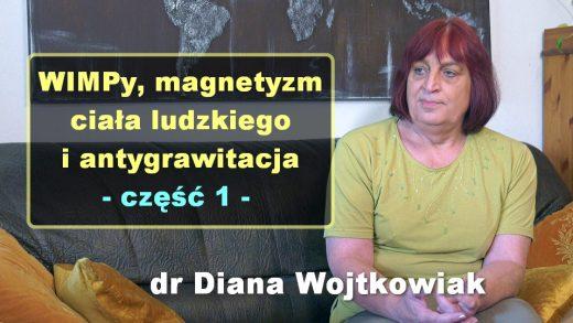 WIMPy, magnetyzm ciała ludzkiego i antygrawitacja, cz. 1 – dr Diana Wojtkowiak