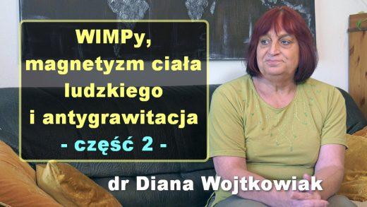 WIMPy, magnetyzm ciała ludzkiego i antygrawitacja, cz. 2 – dr Diana Wojtkowiak